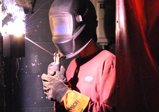 Learn welding skills